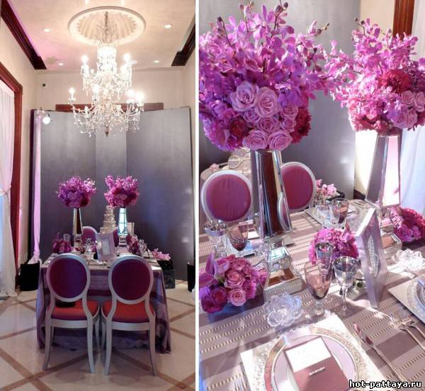 Raspberry cafe wedding